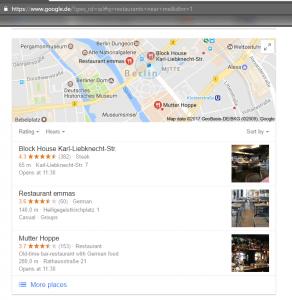 תוצאות לוקאליות של גוגל